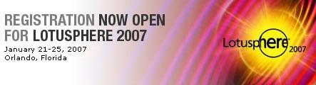 Lotusphere 2007 banner