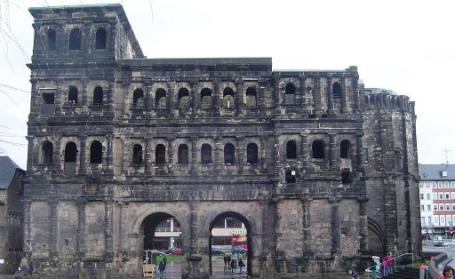 Old Roman Gate in Trier, Germany