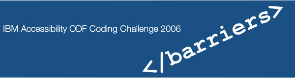 IBM Accessibility ODF Coding Challenge 2006 logo