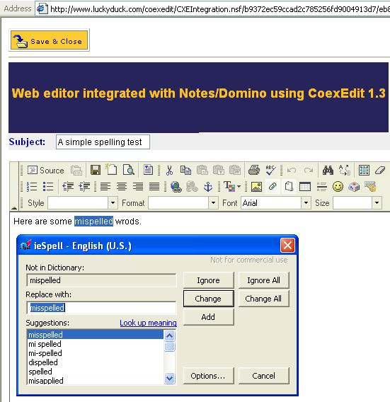 Spell checker with CoexEdit