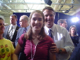 My daughter with John Edwards