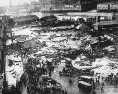 Photograph of Molasses Disaster of 1919