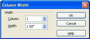 Column one width properties