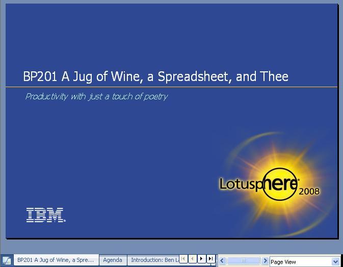 BP201 opening slide