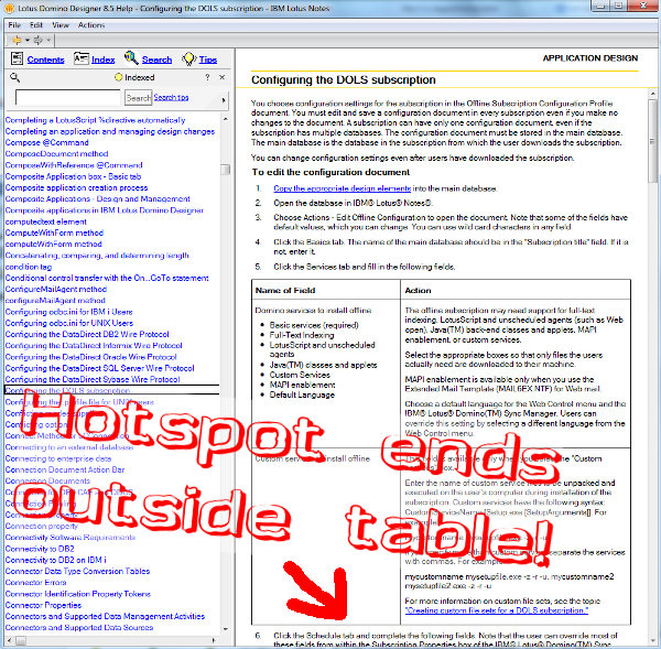 Rich text hotspot goes past end of table