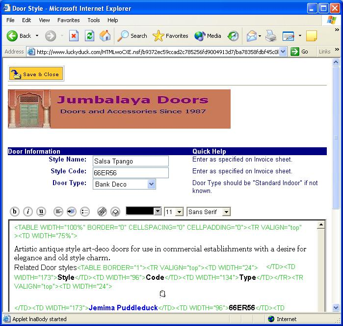 CoexEdit screenshot: WebDocEdit2