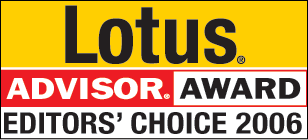 Lotus Advisor Editors Choice 2006