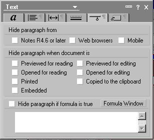 Text properties box 5