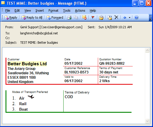 iFidelity email version in Outlook